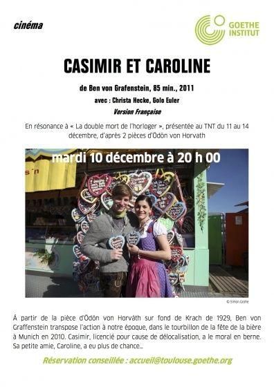 Goethe Institut - Casimir et Caroline
