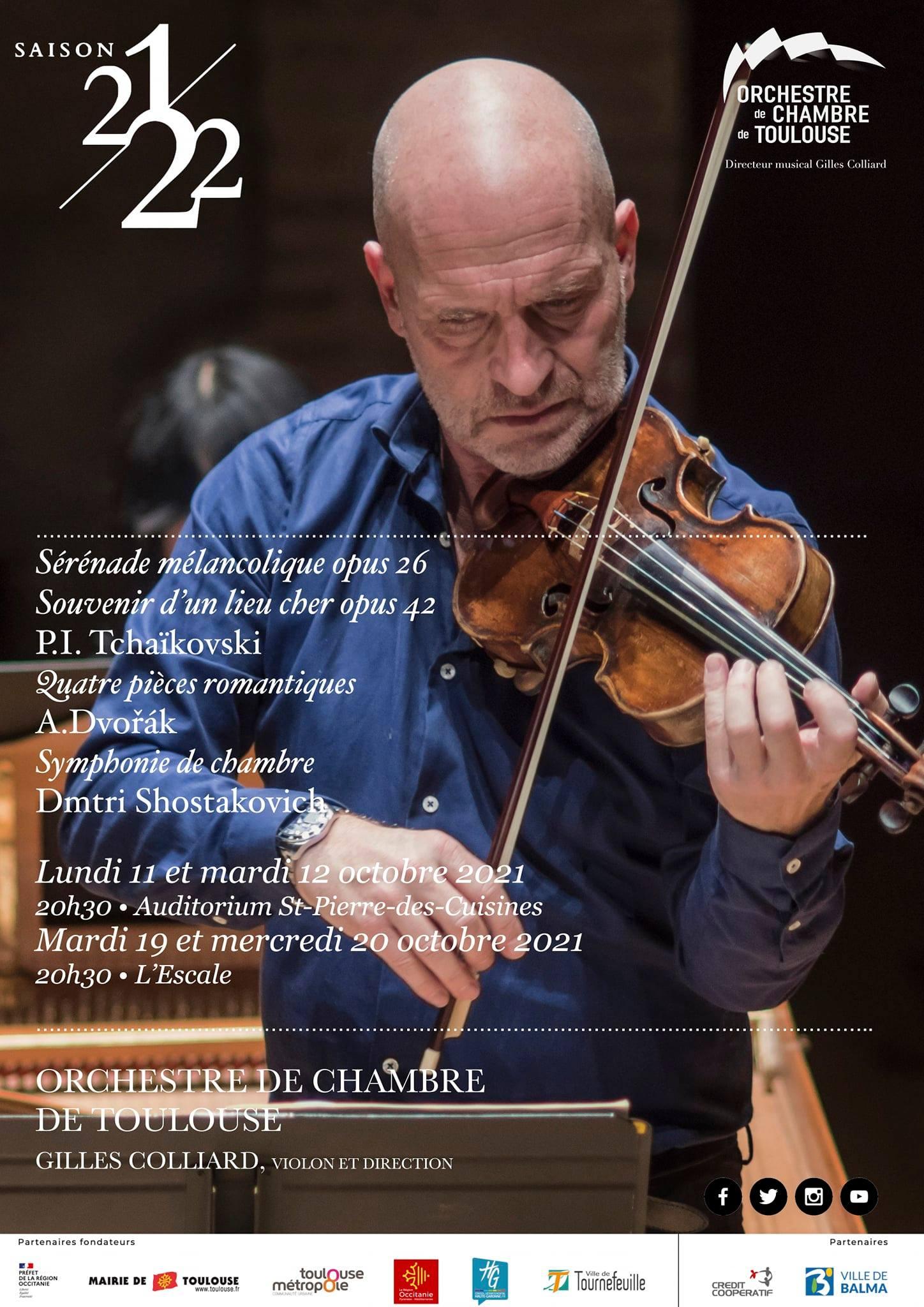 Orchestre de chambre de Toulouse - octobre 2021