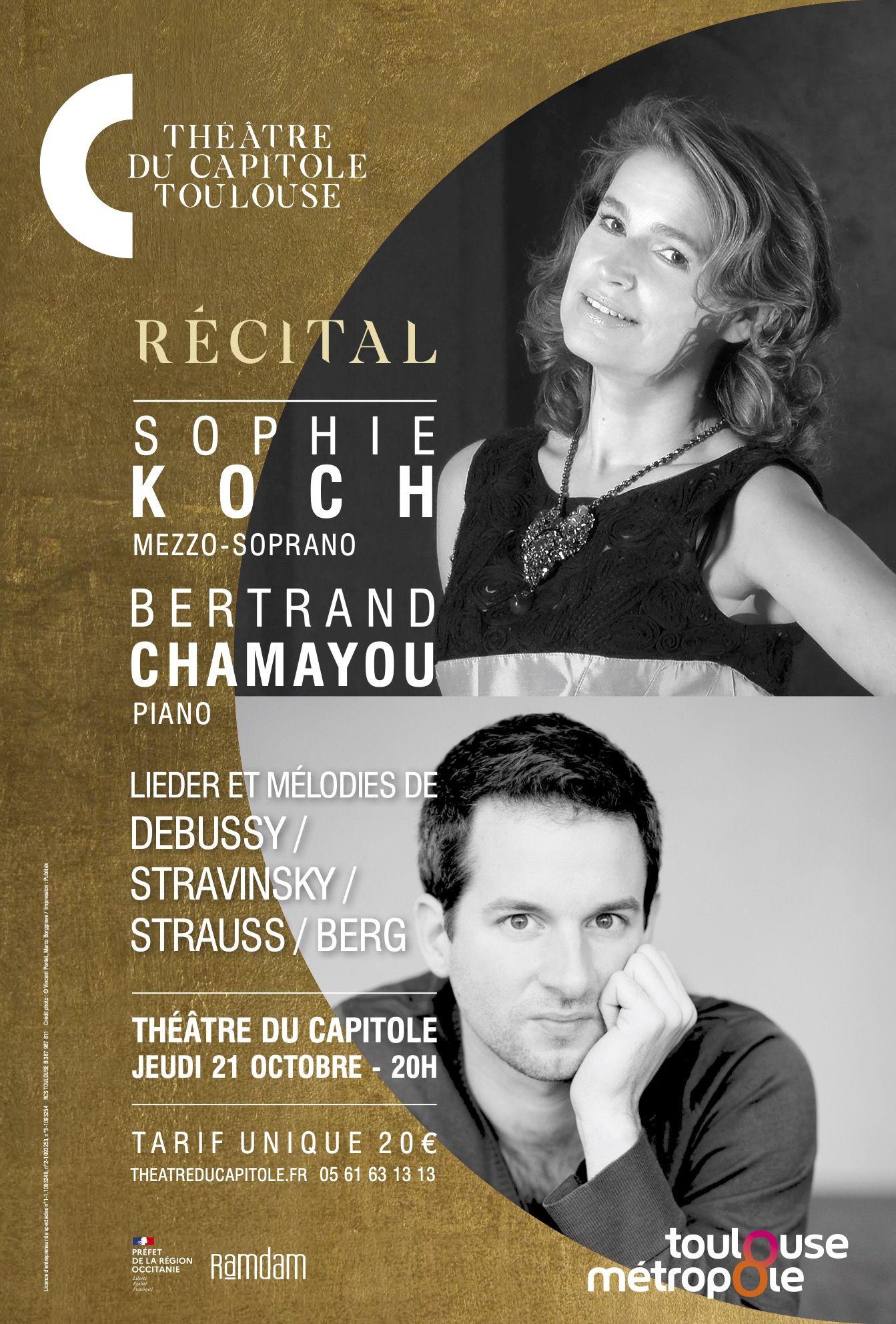 Théâtre du Capitole - Sophie Koch et Bertrand Chamayou